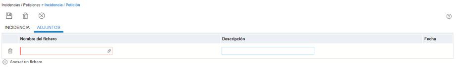 Adjuntar archivos en Proactivanet